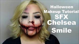 Halloween Makeup Tutorial | SFX | CHELSEA SMILE