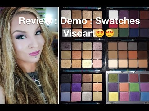 Review: Viseart: Demo: Swatches: Neutral, Dark Matte, Pearl Bright, Bridal, Paris, Sultry Nude