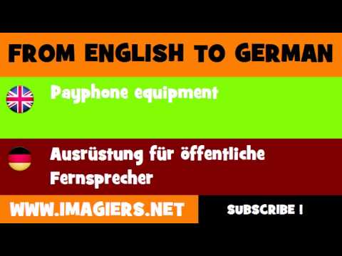 FROM ENGLISH TO GERMAN = Payphone equipment