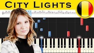 Blanche City Lights Belgium 2017 Eurovision Piano Tutorial MIDI
