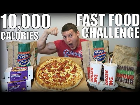 10,000 Calorie Fast Food Challenge | Epic Cheat Day | Man vs Food