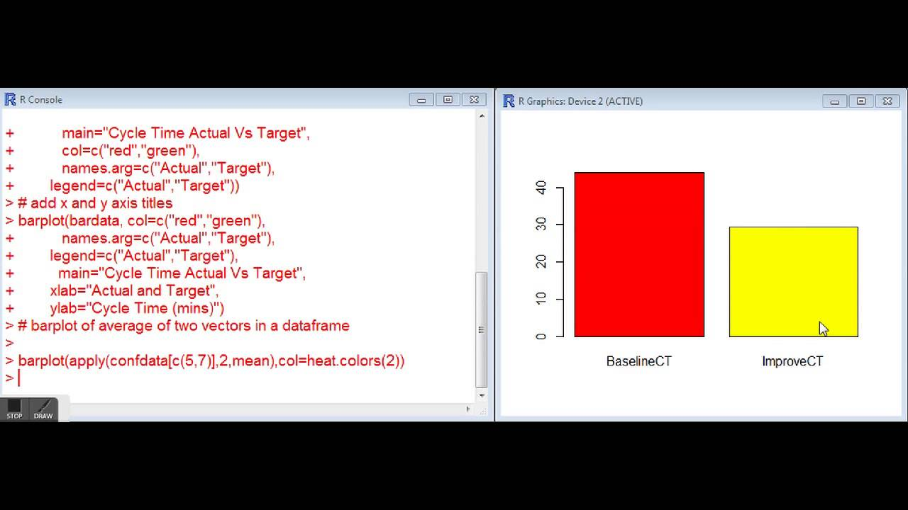 Barplot pie pareto charts in r youtube barplot pie pareto charts in r r for lean six sigma nvjuhfo Images