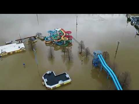 Video: Ohio River consumes several Anderson Township landmarks