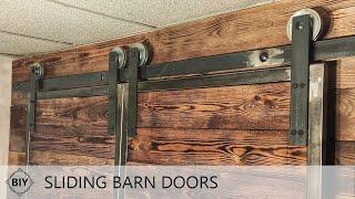🔨 DIY Sliding Barn Doors / Drzwi przesuwne loftowe, rustykalne