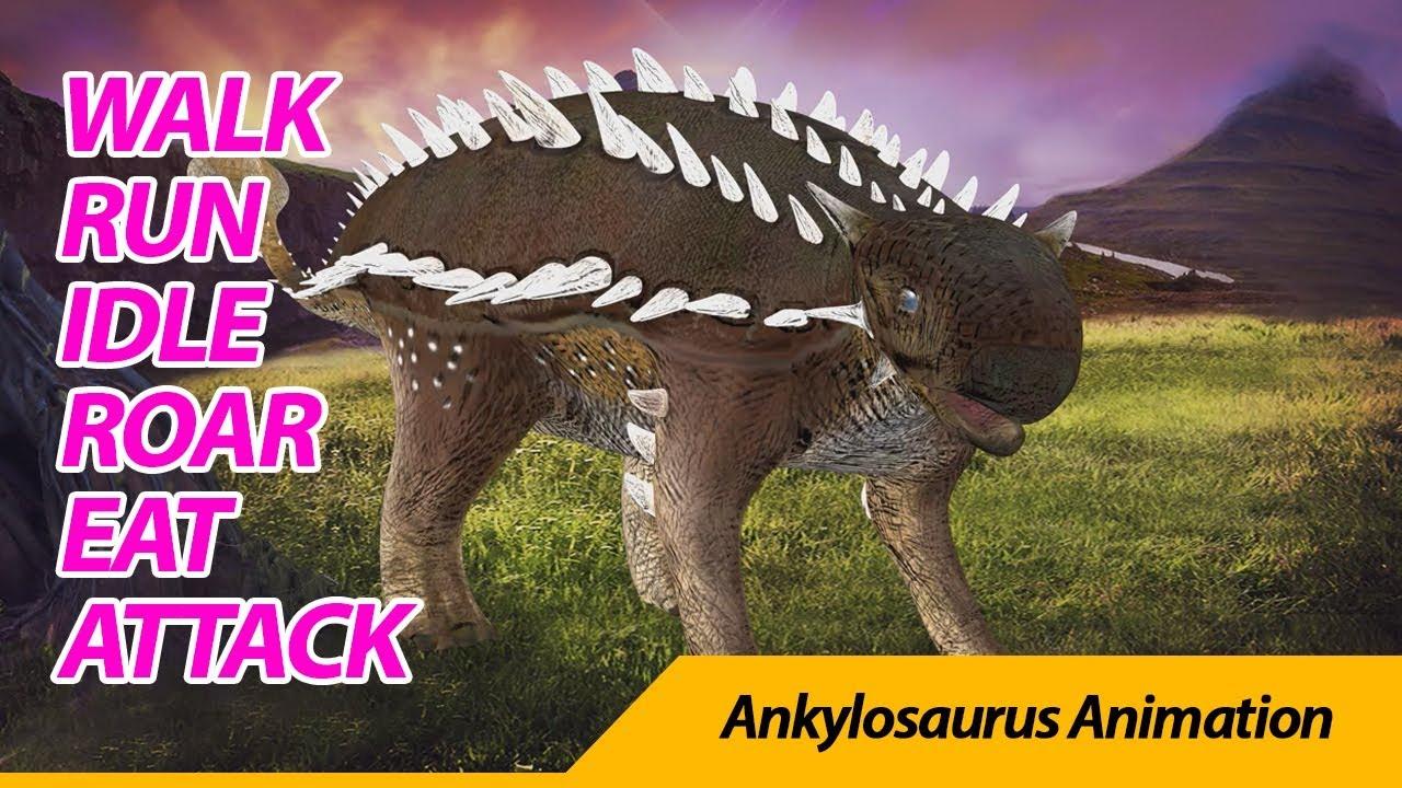 Ankylosaurus animation 안킬로사우루스
