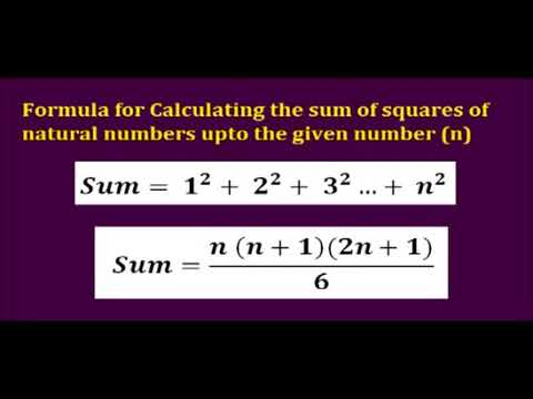 Computer GK & Quiz  - Sum of Squares of Natural Numbers