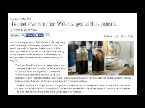 The Green River Formation: World's Largest Oil Shale Deposits