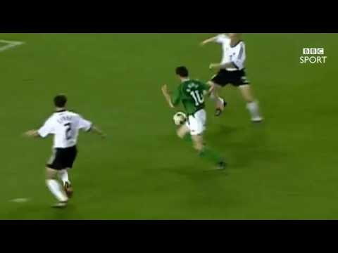 BBC Sport - Robbie Keane's favourite Republic of Ireland goal v Germany - World Cup 2002 (25/8/16)