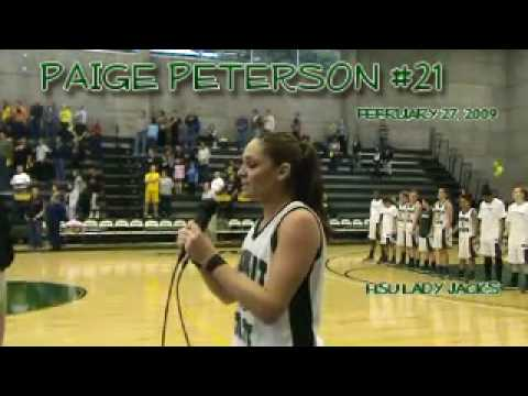 Paige Peterson Sings National Anthem
