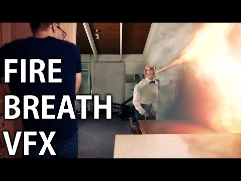 DRAGON BREATH FIRE VFX - Adobe After Effects Tutorial