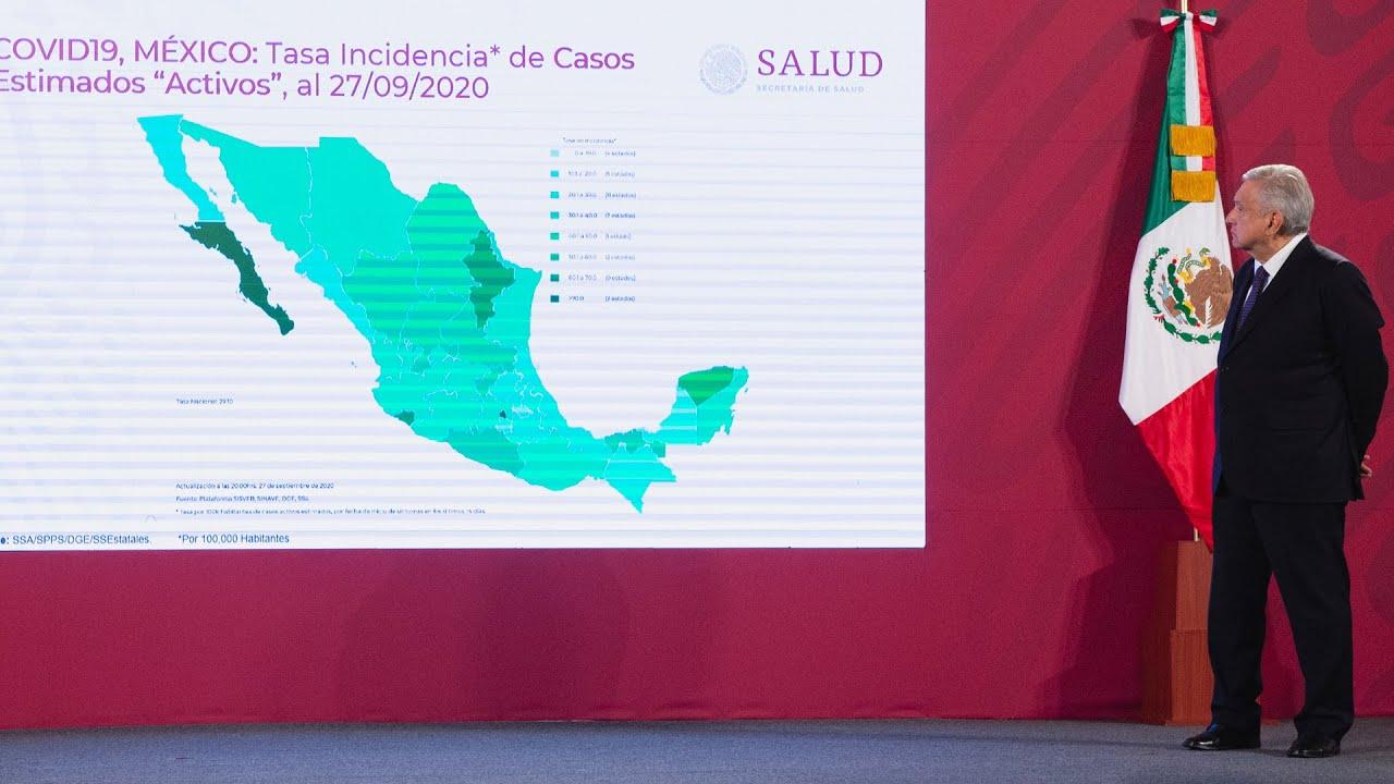COVID-19 en México tiene casi 9 semanas de descenso. Conferencia presidente AMLO