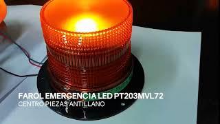 FAROL DE EMERGENCIA LED AMBAR PT203MVL72