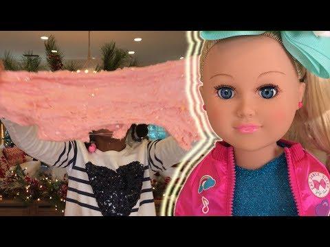 Making Slime with JoJo Siwa Doll! AG Doll Play