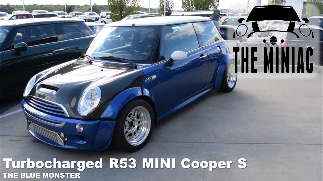 Turbocharged 2006 Mini Cooper S Blue Monster