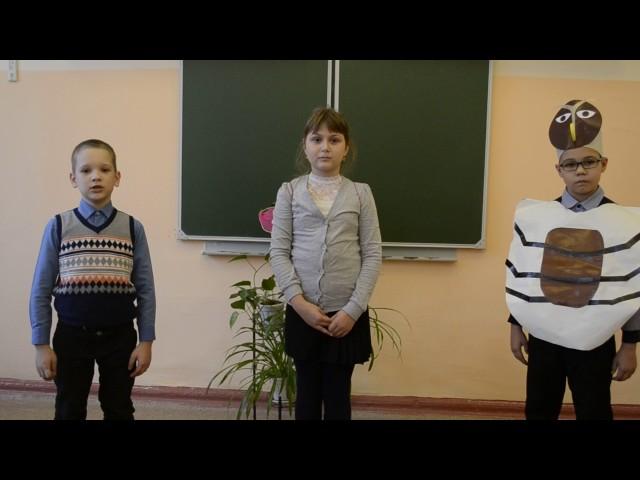 Изображение предпросмотра прочтения – «2 А класс» читает произведение «Стрекоза и Муравей» И.А.Крылова