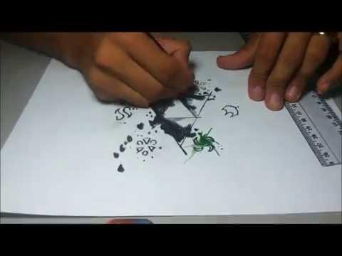 Aquarela Legend Of Zelda Triforce Jimmy Tattoo Art Youtube
