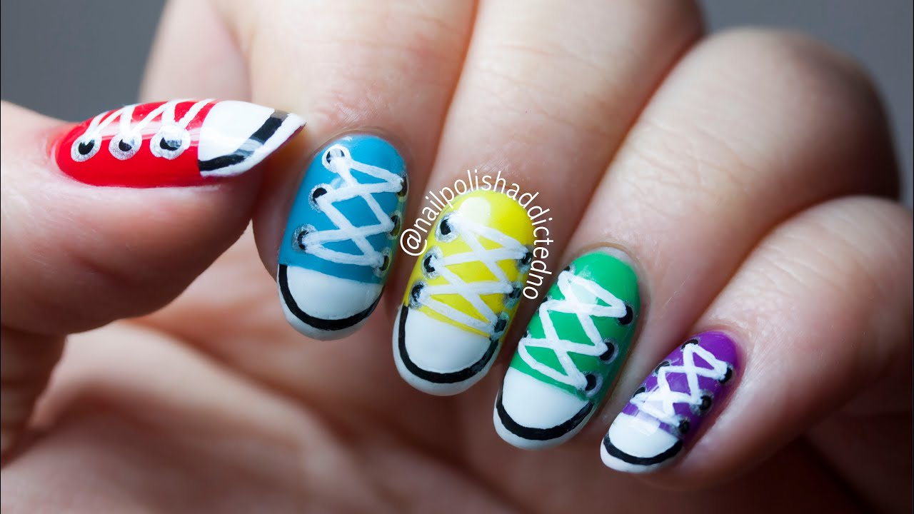 c6075b1ba93bbb Converse Shoes - Nail Art Tutorial by NailPolishAddicted - YouTube