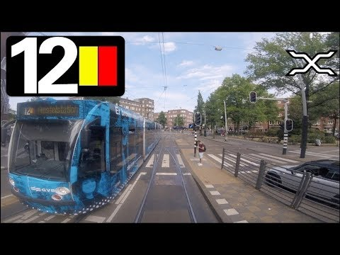 🚋 GVB Amsterdam Tramlijn 12 Cabinerit Amstelstation - Centraal Station Driver's View 2018