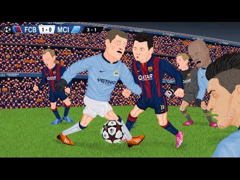Parodia animada del Barcelona 1-0 Manchester City 18/3/2015