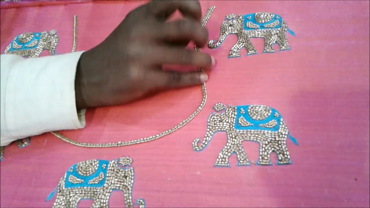 6370e33f737352 Traditional Kerala Elephant Design with Thread and Cut Beads - YouTube