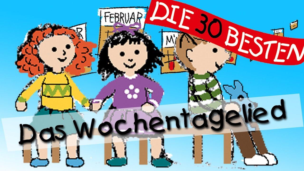 Wochentagelied Wissenslieder Für Kleinkinder Kinderlieder
