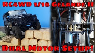 RC4WD 1/18 Gelande II - Dual Motor Install And Overview