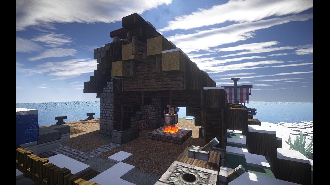 Minecraft Lets Build Wikinger Walfänger Teil YouTube - Minecraft wikinger hauser
