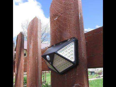 IC ICLOVER Solar Motion Sensor Lights Outdoor 100 LED Waterproof IP65 Review DISCOUNT CODE