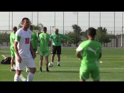 Algeria football team trains ahead of World Cup