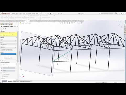 Aula 229 - Galpão Estrutura  Metálica - Solidworks - Marcelo Pereira