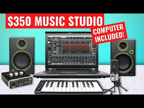 How To Build A Music Studio For $350 - Computer Included!