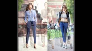 Kumaş pantolon kombinleri kadın