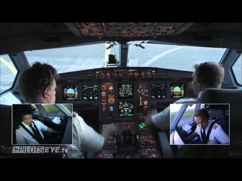Düsseldorf - Malediven Airbus A330 Cockpit View [HD]