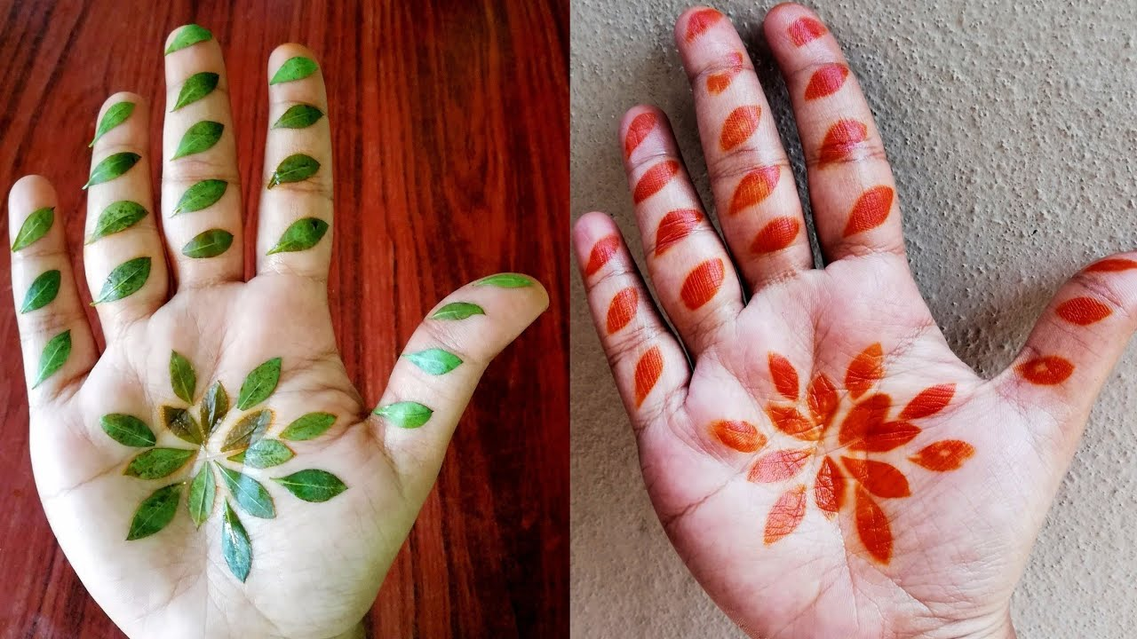 Simple Mehndi Trick Using Henna Leaves Henna Leaves Mehndi Design