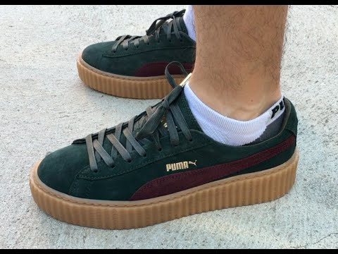 mens puma creeper on feet