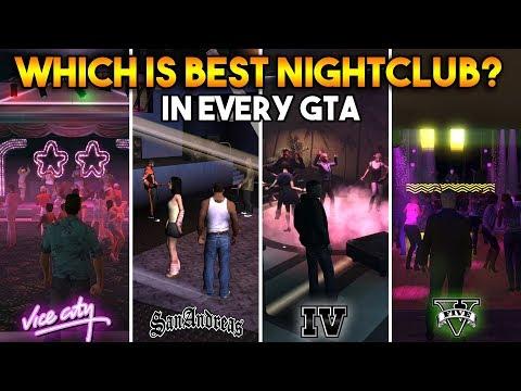 GTA 5 VS GTA SAN ANDREAS VS GTA 4 VS GTA VICE CITY : WHICH IS BEST NIGHTCLUB?