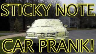 Funny Pranks - Sticky Note Prank