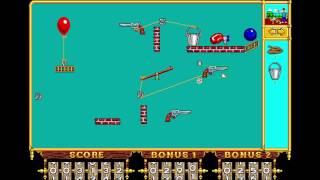 """The Incredible Machine - Puzzle 10: """"Tutorial: Bang, Bang, Bang"""" (1992) [MS-DOS]"""