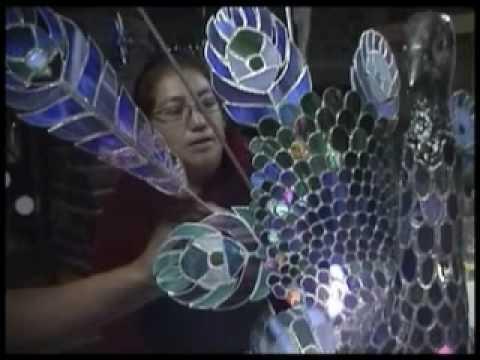 Arte en Vidrio reciclado - YouTube