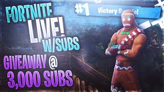 Fortnite live stream 599 wins join me happily thanks giving