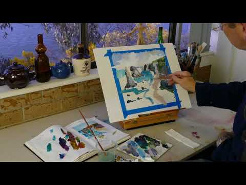 Demonstration – Landscape Painting – Matisse Australian Colours