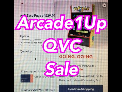 Arcade1Up QVC Mappy Xevious Special Edition 8 Games Arcade 1Up Sale from rarecoolitems