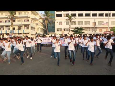 Flashmob on AIDS Awareness at beach road,visakhapatnam by Andhra medical college students