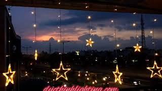 Dây Đèn LED Thả Rèm 12 Ngôi Sao