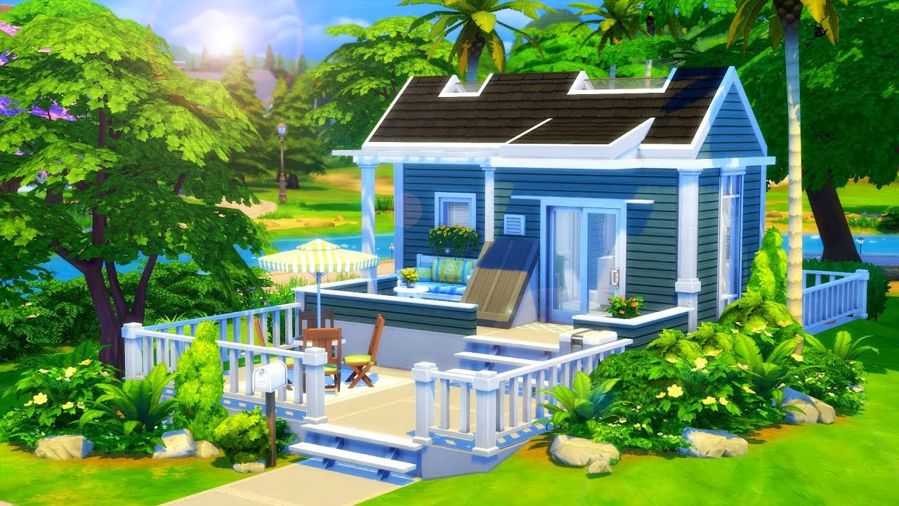 Base Game Tiny House Sims 4 Speed Build Youtube