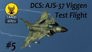 Test Flight - DCS: AJS-37 Viggen - Visual/Radar Nav Fix, TERNAV System, Radar Terrain Avoidance