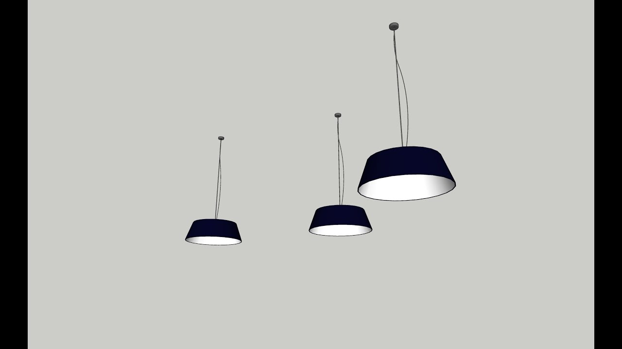 How To Draw Ceiling Light On SketchUp Interior Part 02