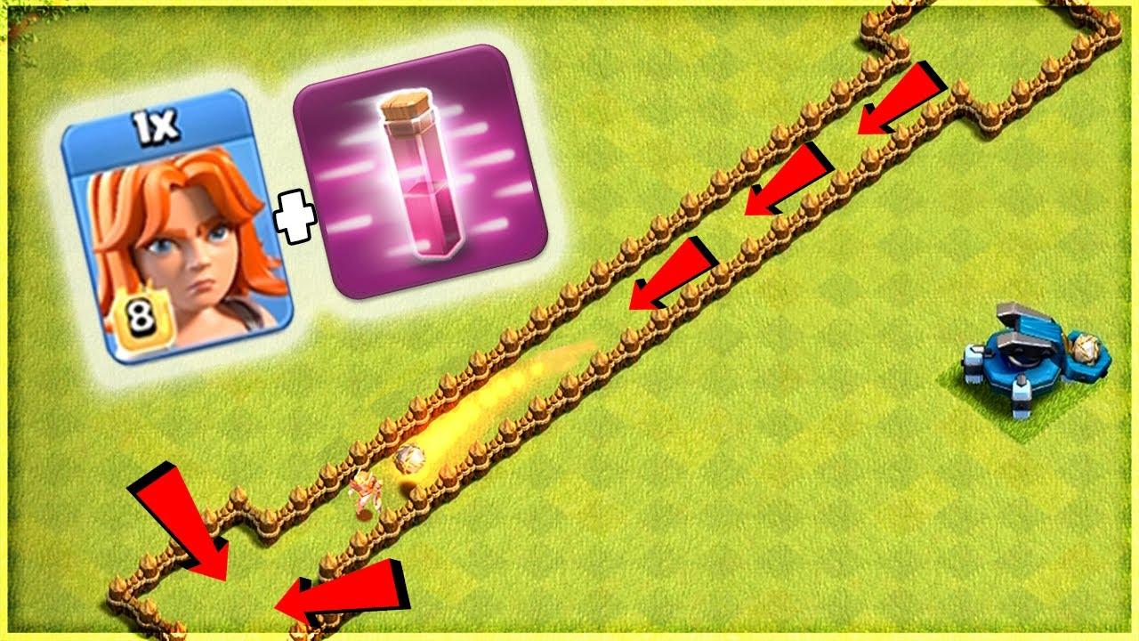 OUTRUN THE SCATTERSHOT!!💥TROLL RUN!!💥Clash Of Clans....