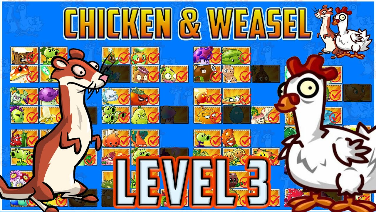 The Chicken & Weasel Tournament Level 3 - Plants vs Zombies 2 Epic Tournament