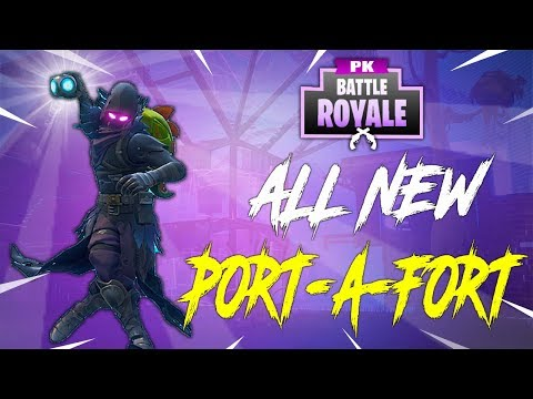 HOW  To SMARTLY USE The PORT-A-FORT Fortnite Battle Royale (FORT TIPS)